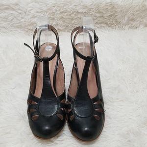 Miz Mooz Harlowe Leather Stappy Heels, 9.5